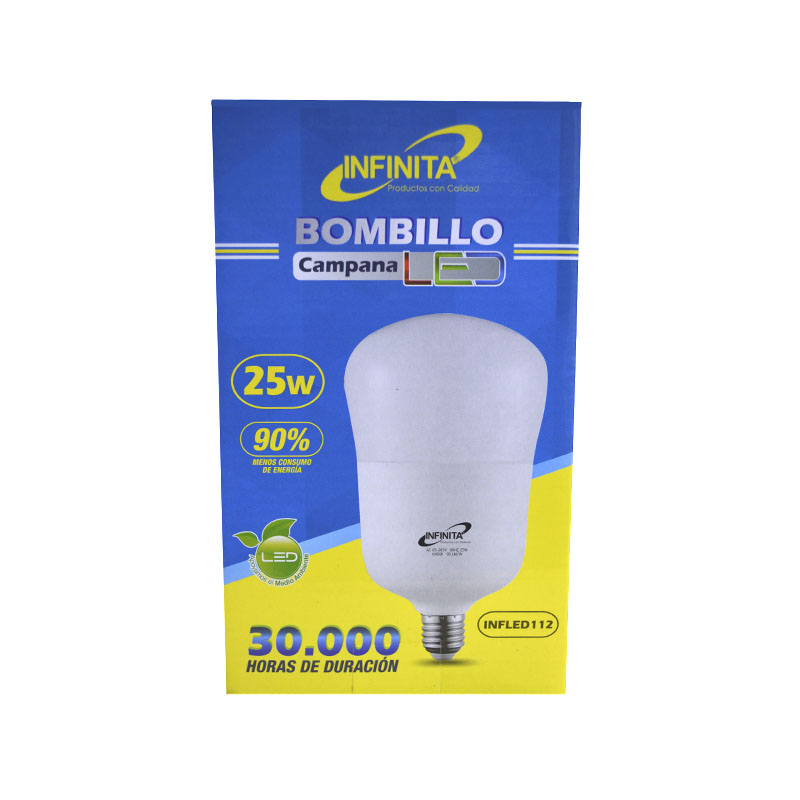 BOMBILLO LED 25W CAMPANA