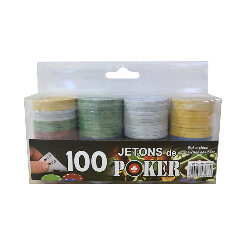 FICHAS DE POKER 100 PCS